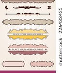 banners  borders and dividers | Shutterstock .eps vector #226433425
