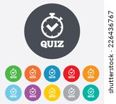 quiz timer sign icon. questions ... | Shutterstock .eps vector #226436767