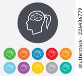 head with brain sign icon.... | Shutterstock .eps vector #226436779