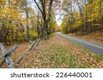 old fence on the blue ridge... | Shutterstock . vector #226440001