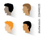 set of man's profiles.four man... | Shutterstock .eps vector #226448155