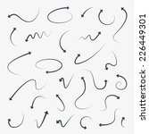 curved sketch arrow icons. ... | Shutterstock .eps vector #226449301