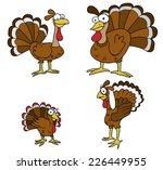 thanksgiving turkey cartoons   Shutterstock .eps vector #226449955