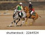 International polocrosse, South Africa versus Ireland, 23 July 2006, Bloemfontein, South Africa  - stock photo
