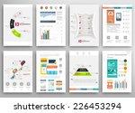 set of flyer  brochure design... | Shutterstock .eps vector #226453294