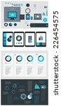flat ui design infographic... | Shutterstock .eps vector #226454575