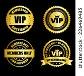 vip membership gold stamp  ... | Shutterstock .eps vector #226469485