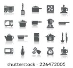 kitchen utensils icons | Shutterstock .eps vector #226472005