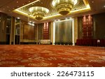 huge hall interior with red... | Shutterstock . vector #226473115