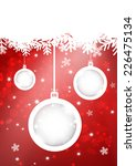christmas ball on red background | Shutterstock . vector #226475134