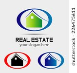real estate vector logo design...   Shutterstock .eps vector #226475611