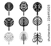 trees decorative icons hand... | Shutterstock . vector #226491025