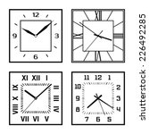set of different clock faces.... | Shutterstock .eps vector #226492285