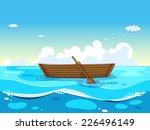 Illustration Of A Boat Floatin...