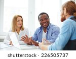 group of co workers in casual... | Shutterstock . vector #226505737