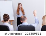 man asking the question during... | Shutterstock . vector #226509511