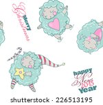cute cartoon sheep in vector.... | Shutterstock .eps vector #226513195