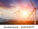 Wind Turbine From Below With...