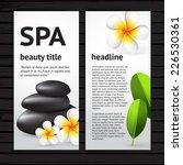 vector modern spa flyer design... | Shutterstock .eps vector #226530361