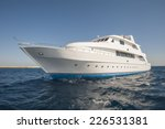 Large Luxury Motor Yacht On A...