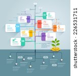 business tree timeline... | Shutterstock .eps vector #226531711