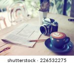 cup of coffee latte and classic ... | Shutterstock . vector #226532275