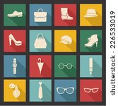 vector accessories icon set... | Shutterstock .eps vector #226533019