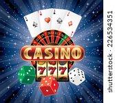 vector gambling casino elements ... | Shutterstock .eps vector #226534351