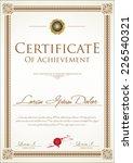 certificate template | Shutterstock .eps vector #226540321