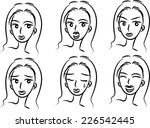 vector people with emoticon... | Shutterstock .eps vector #226542445