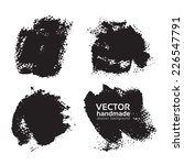 set of abstract black textural... | Shutterstock .eps vector #226547791