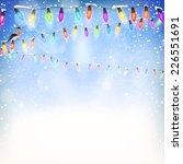 blue christmas background. eps...   Shutterstock .eps vector #226551691