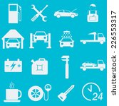 car service icon set. auto... | Shutterstock .eps vector #226553317