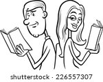 black and white cartoon... | Shutterstock . vector #226557307