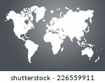 modern world map illustration | Shutterstock . vector #226559911