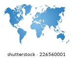 modern world map illustration | Shutterstock . vector #226560001