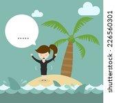 business women need help on... | Shutterstock .eps vector #226560301