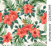 seamless exotic pattern with... | Shutterstock .eps vector #226561345