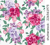 seamless exotic pattern with...   Shutterstock .eps vector #226561975