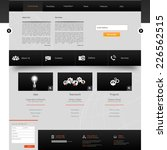 website template. creative web...