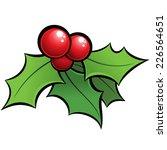 cartoon vector red and green... | Shutterstock .eps vector #226564651