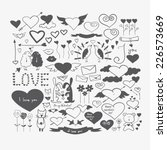 hand drawn doodle heart shaped... | Shutterstock .eps vector #226573669