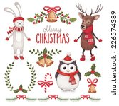 watercolor christmas... | Shutterstock . vector #226574389