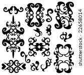 ornament decorative elements on ... | Shutterstock . vector #22658014