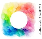 colorful watercolor wreath.