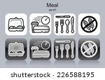 meal menu food and drink icons. ... | Shutterstock .eps vector #226588195