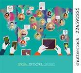 social network concept. flat... | Shutterstock .eps vector #226592335