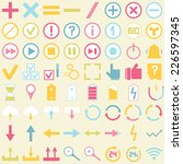 symbol icon set. for... | Shutterstock .eps vector #226597345