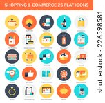 abstract vector collection of... | Shutterstock .eps vector #226598581