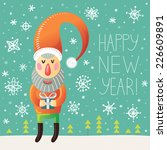 happy new year greeting card... | Shutterstock .eps vector #226609891